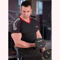 Bodydrom 005-07-BDT Omuz Baskılı Kısa Kollu Antrasit T-Shirt
