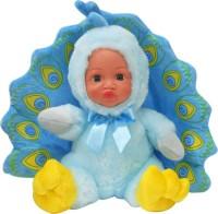 Küçük Tavus Kuşu Peluş Bebek, Mavi